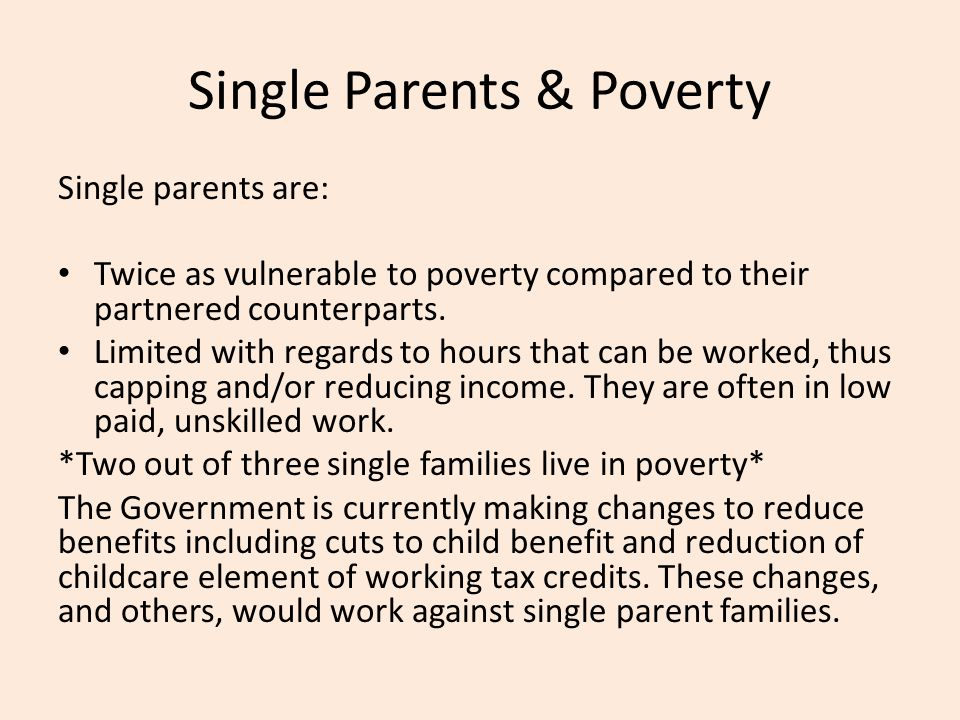 Single Parents & Poverty