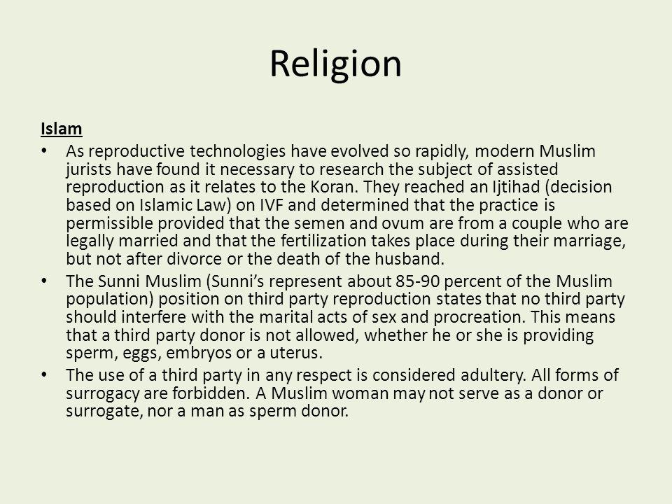 Religion Islam.