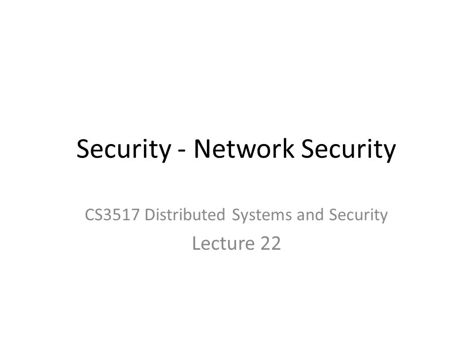 Security - Network Security