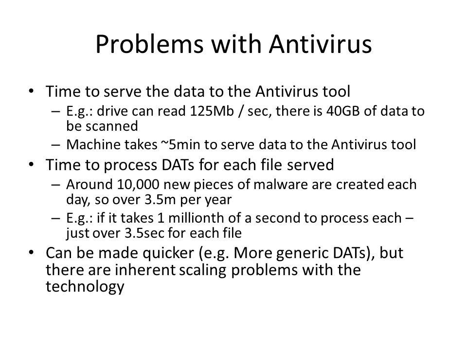 Problems with Antivirus