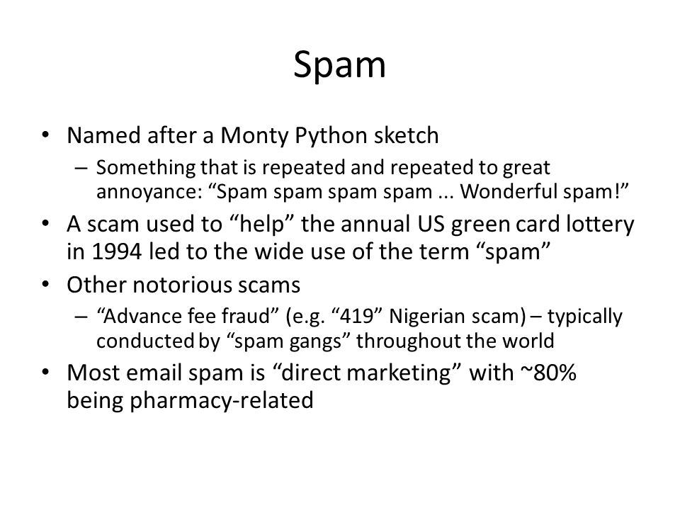 Spam Named after a Monty Python sketch