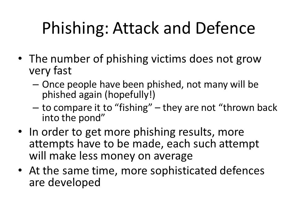 Phishing: Attack and Defence