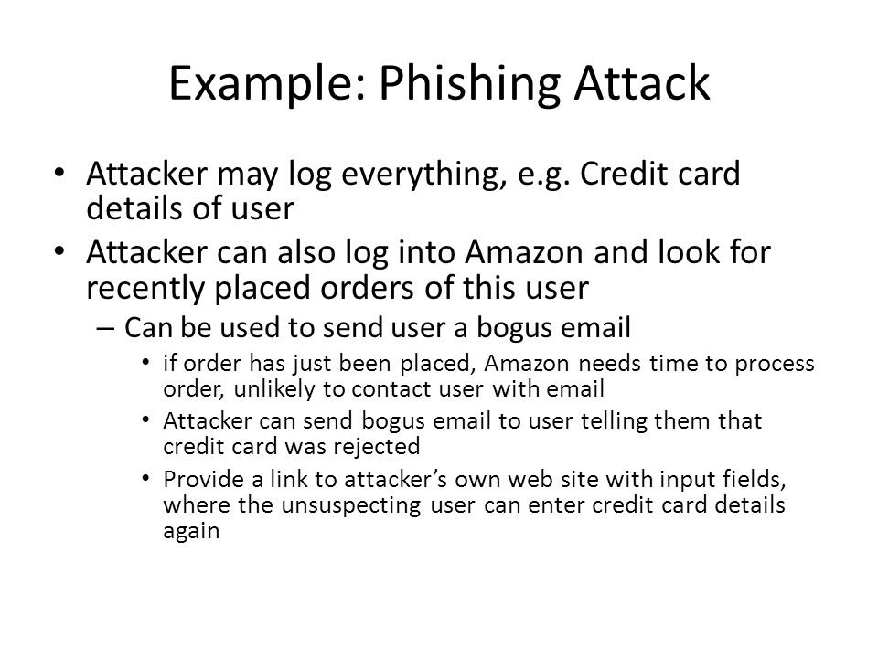 Example: Phishing Attack