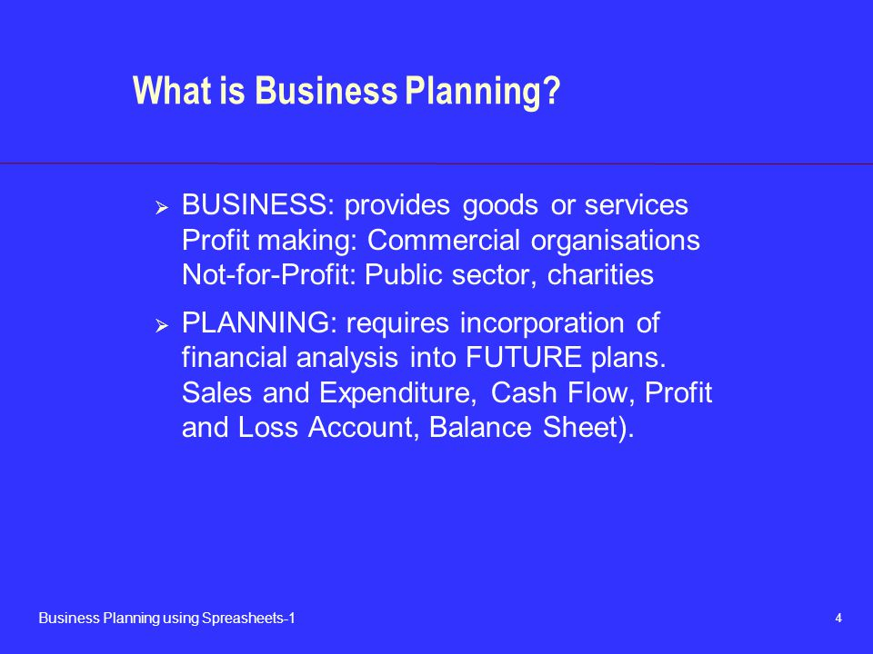 What is Business Planning