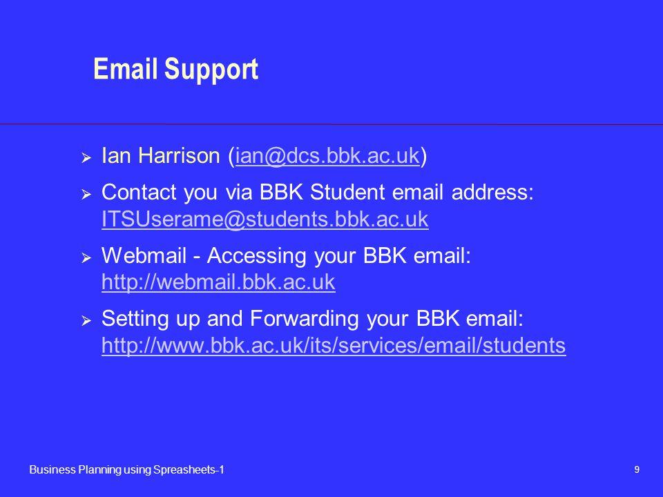 Email Support Ian Harrison (ian@dcs.bbk.ac.uk)