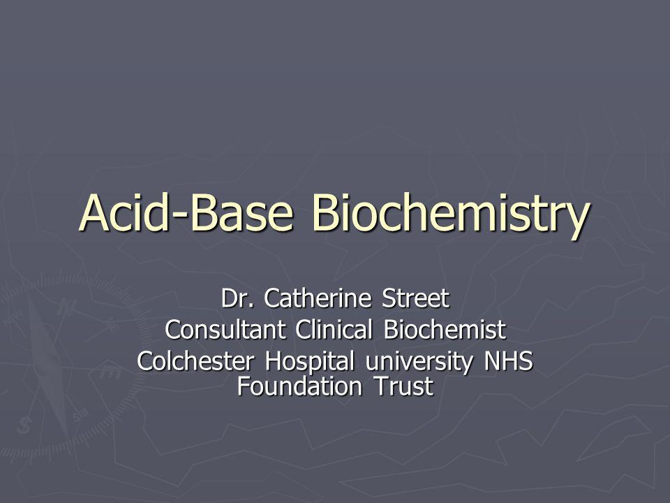 Acid-Base Biochemistry