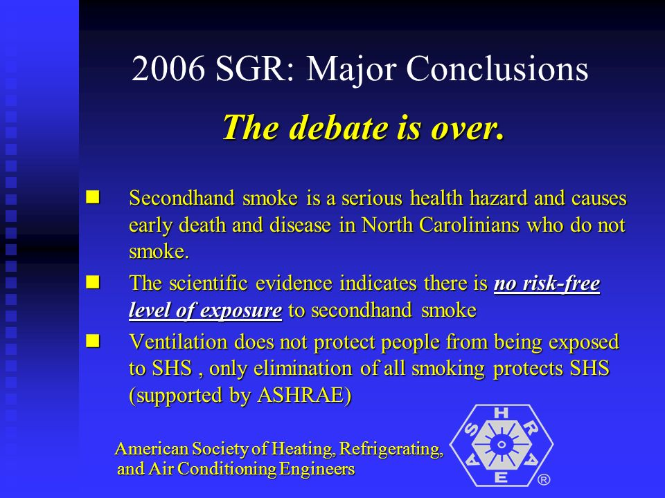 2006 SGR: Major Conclusions