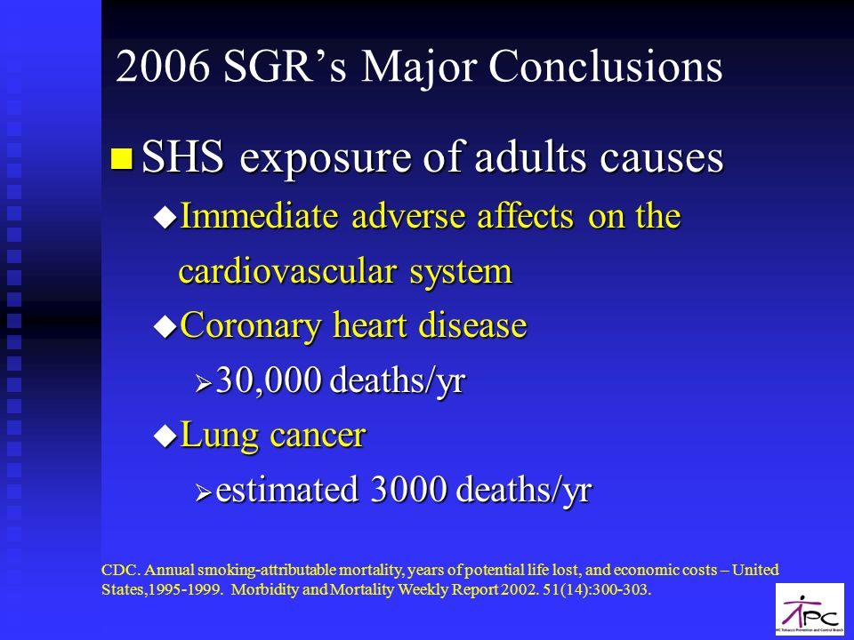 2006 SGR's Major Conclusions