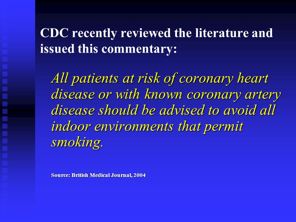 CDC recently reviewed the literature and issued this commentary: