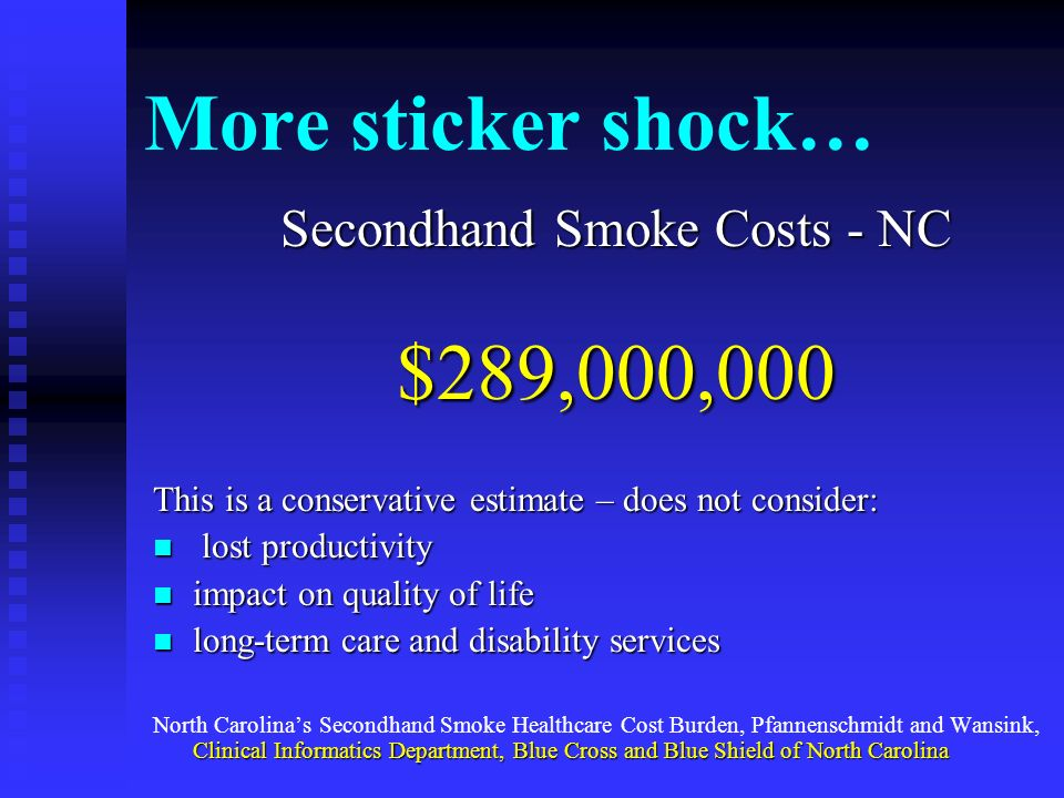 Secondhand Smoke Costs - NC
