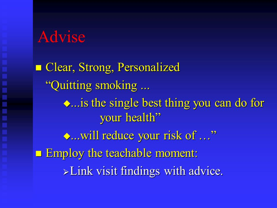 Advise Clear, Strong, Personalized Quitting smoking ...
