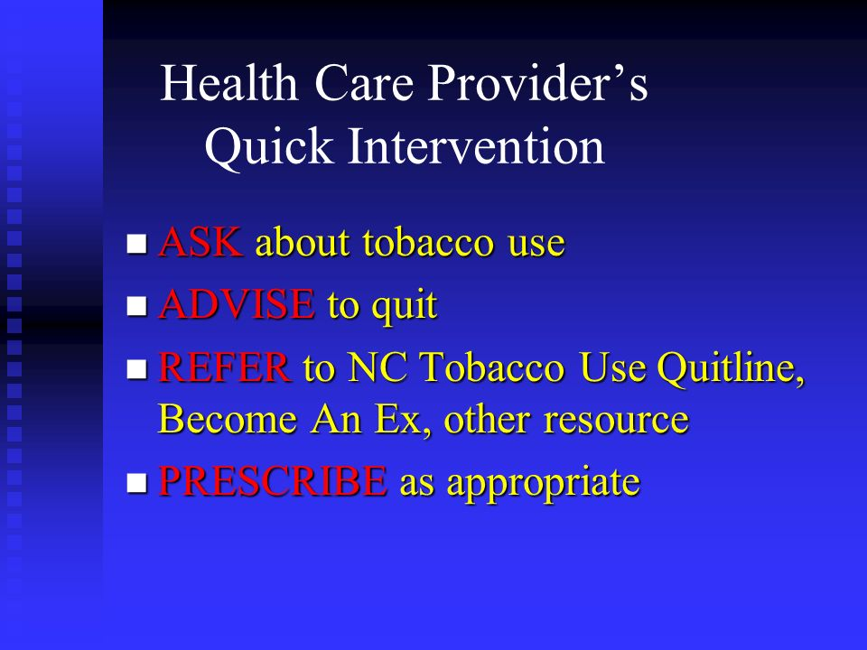 Health Care Provider's Quick Intervention