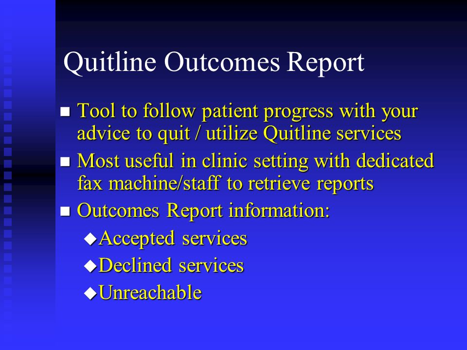 Quitline Outcomes Report