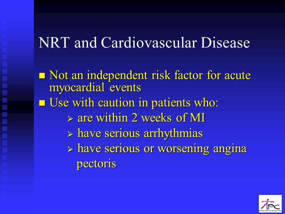 NRT and Cardiovascular Disease
