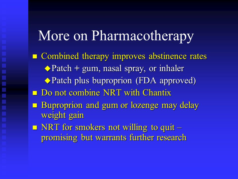 More on Pharmacotherapy