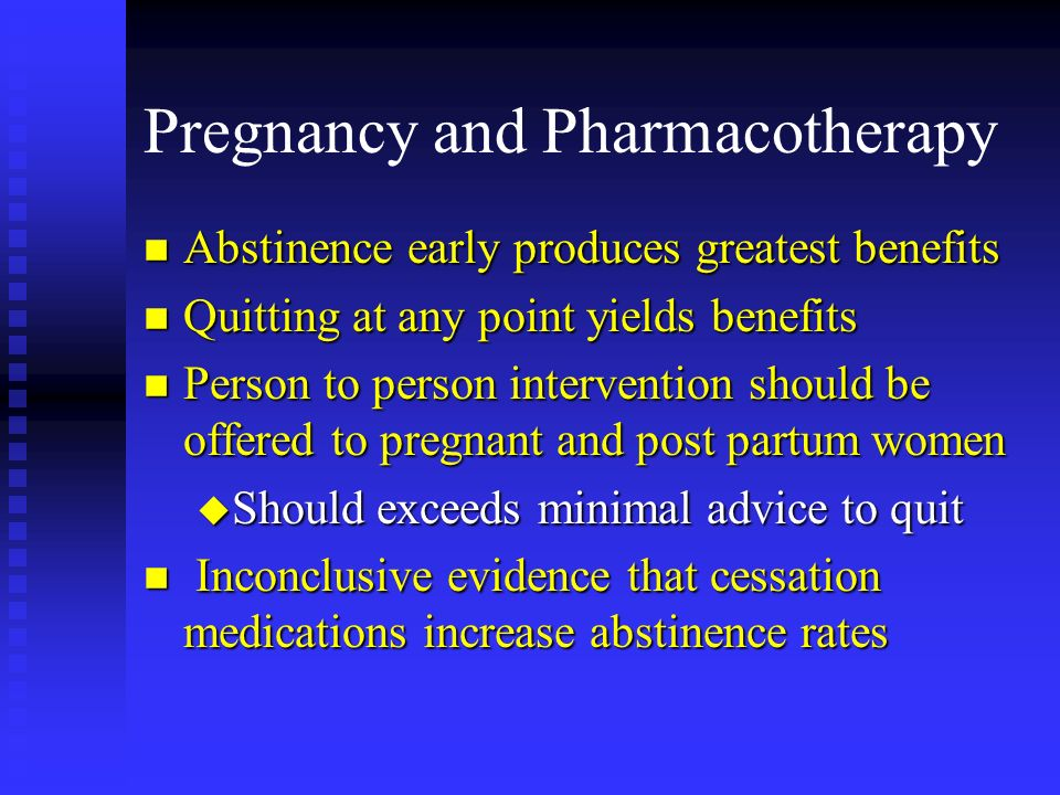 Pregnancy and Pharmacotherapy