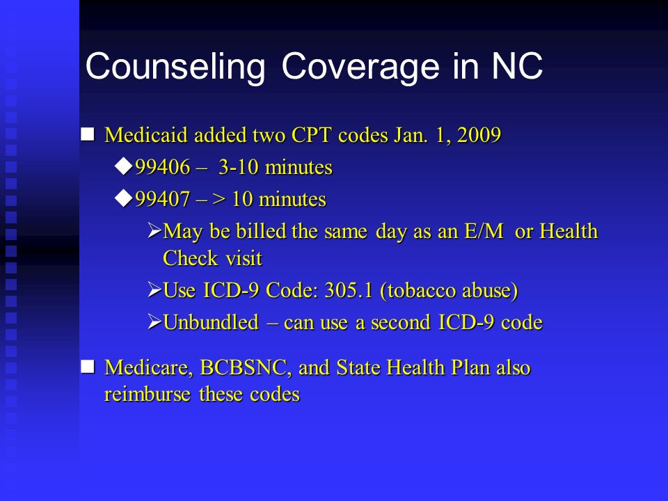 Counseling Coverage in NC