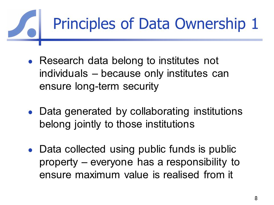 Principles of Data Ownership 1