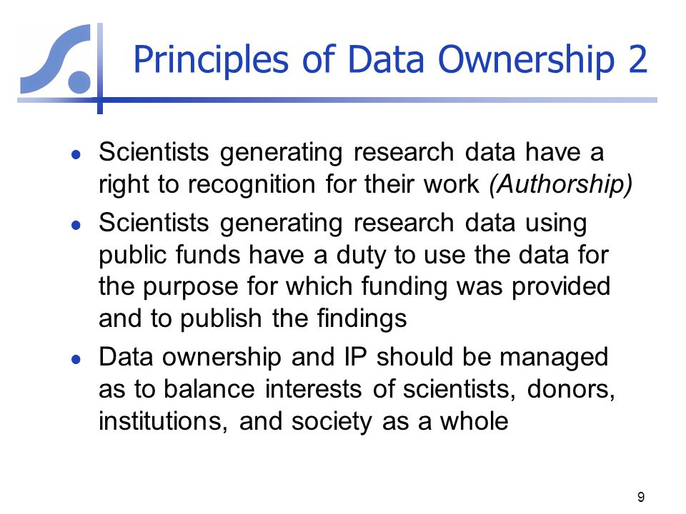 Principles of Data Ownership 2
