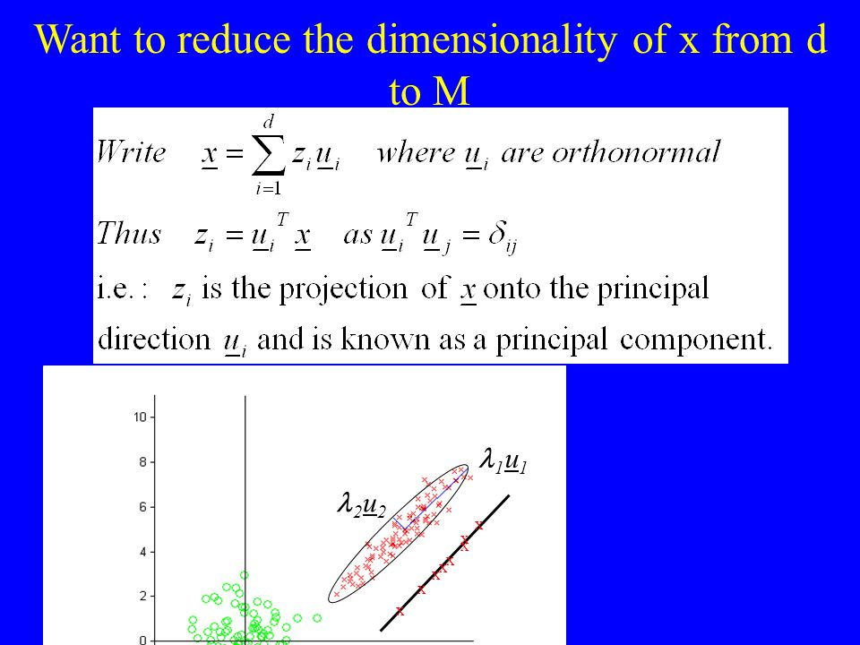 Want to reduce the dimensionality of x from d to M