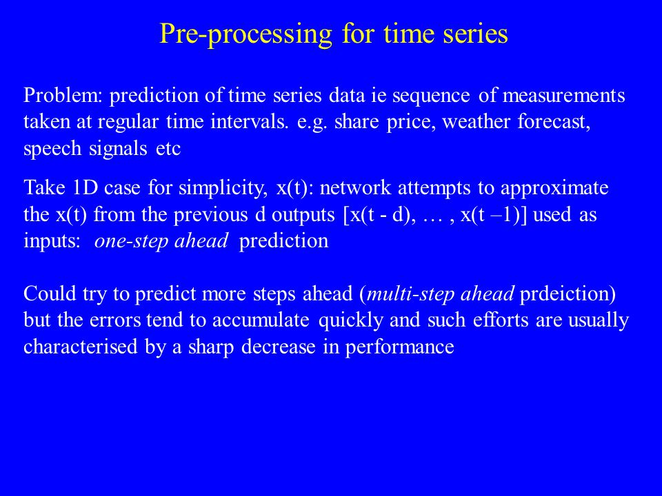 Pre-processing for time series