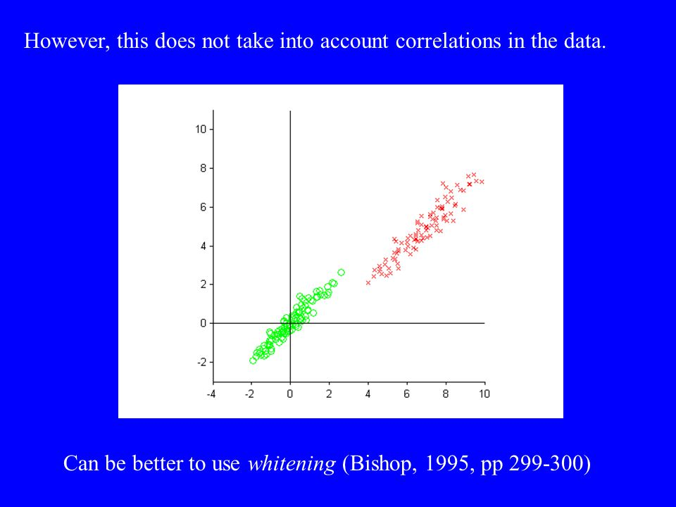 However, this does not take into account correlations in the data.