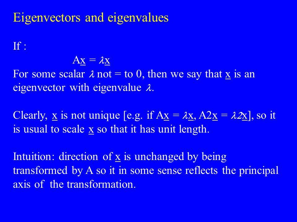 Eigenvectors and eigenvalues