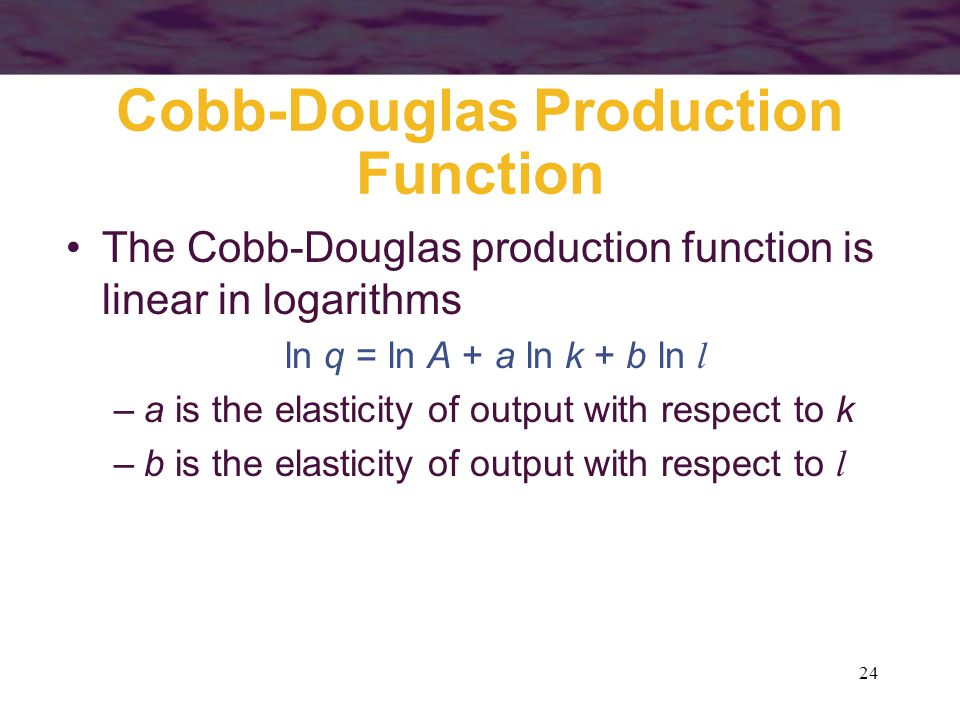 Cobb-Douglas Production Function