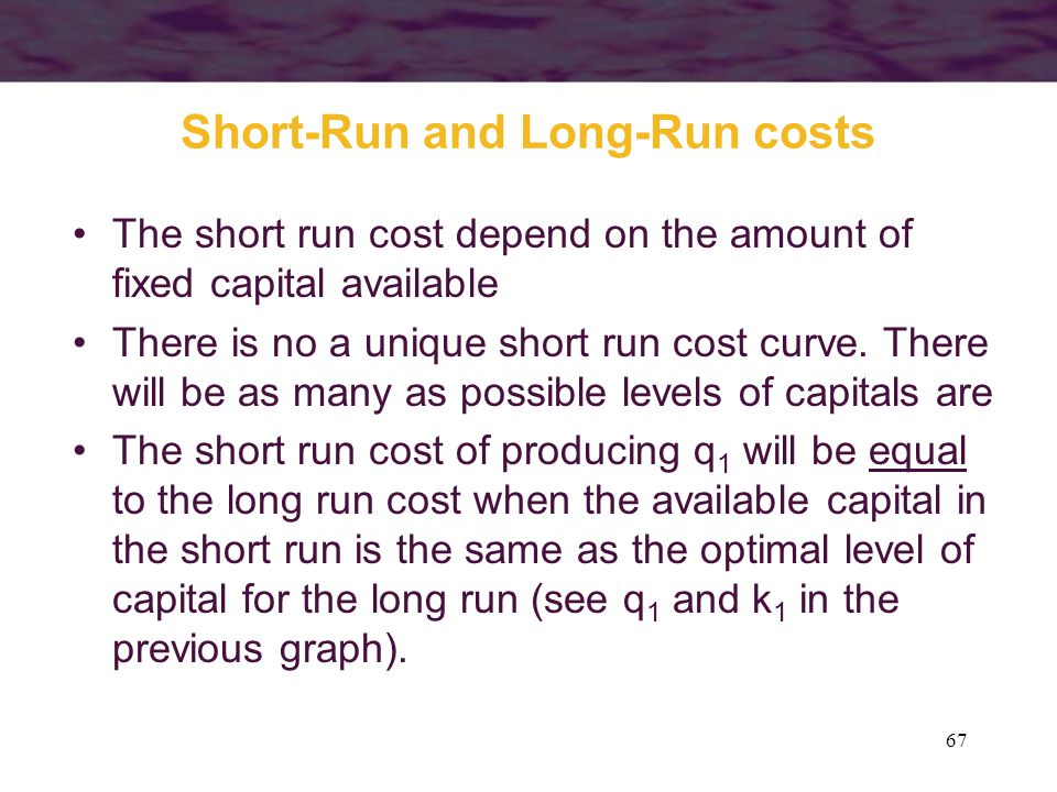 Short-Run and Long-Run costs