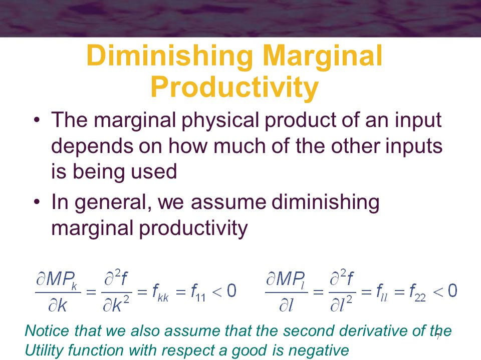 Diminishing Marginal Productivity