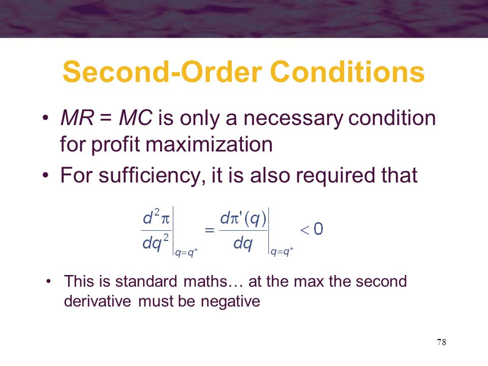 Second-Order Conditions