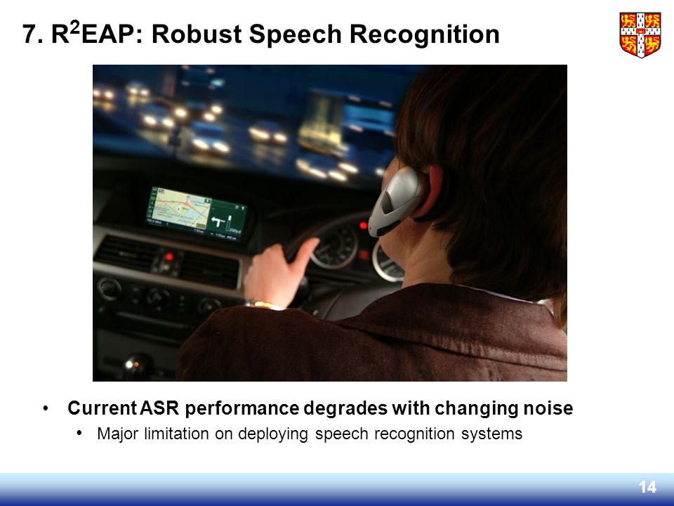 7. R2EAP: Robust Speech Recognition
