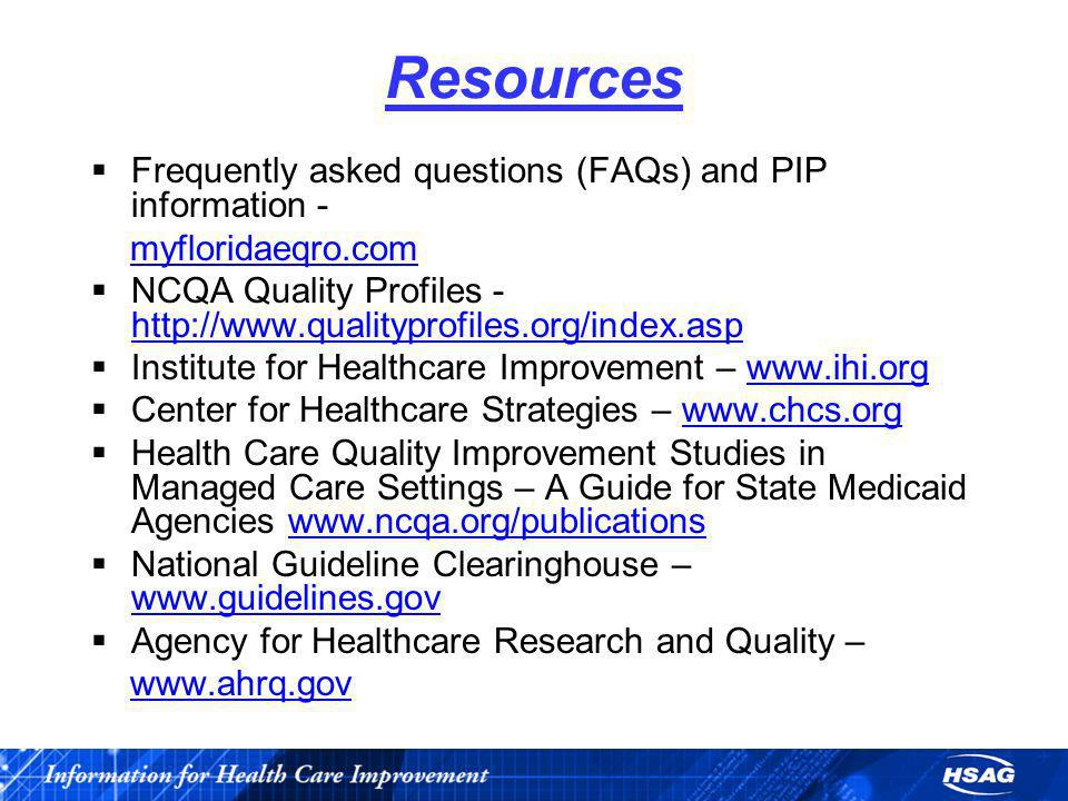 Resources Frequently asked questions (FAQs) and PIP information -