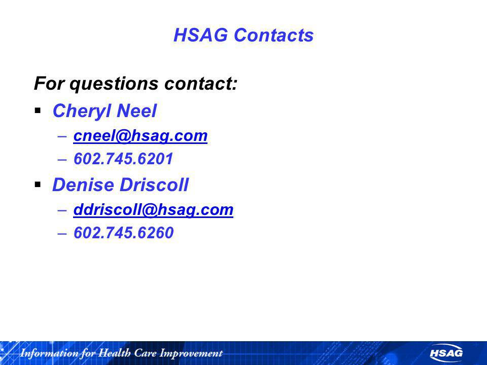 For questions contact: Cheryl Neel