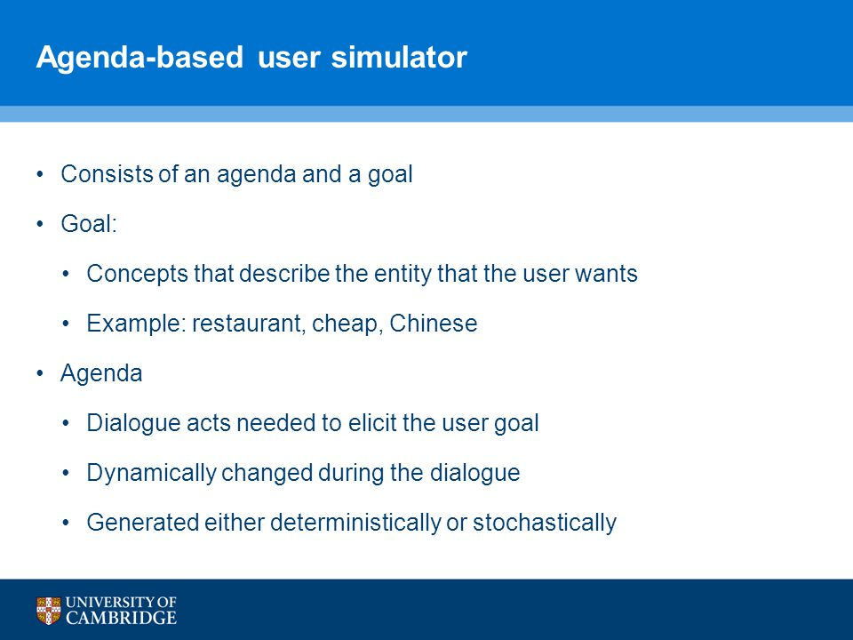 Agenda-based user simulator