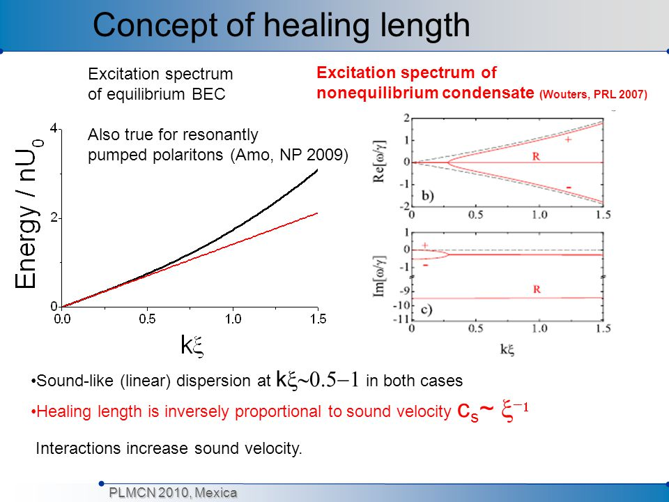 Concept of healing length