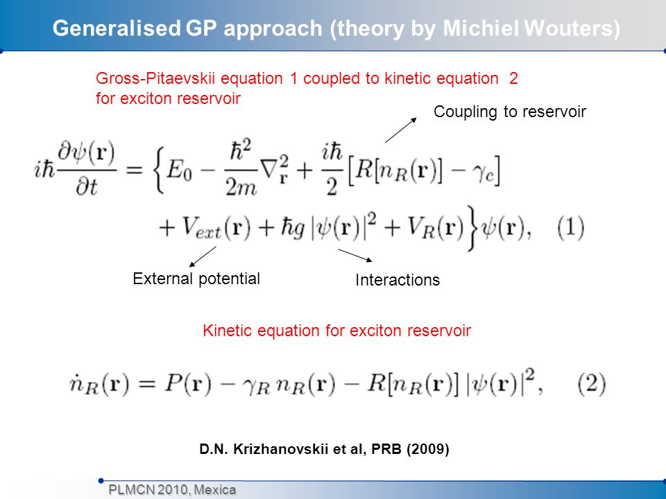 Generalised GP approach (theory by Michiel Wouters)