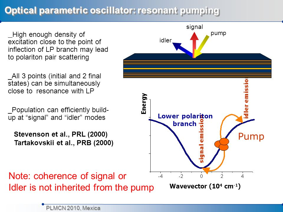 Optical parametric oscillator: resonant pumping