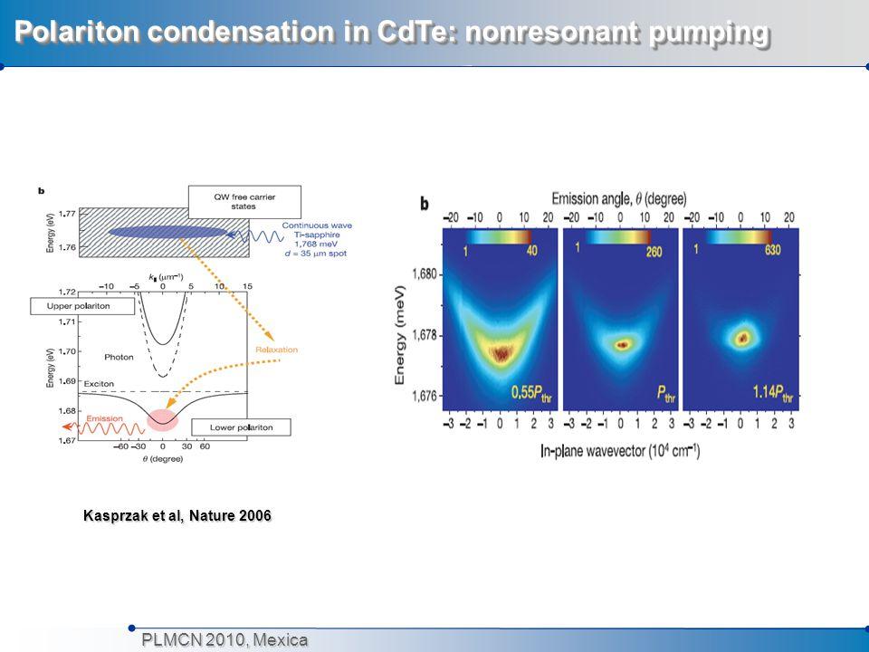 Polariton condensation in CdTe: nonresonant pumping