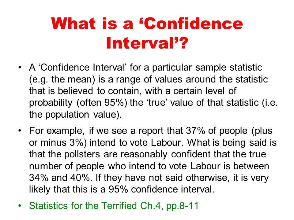What is a 'Confidence Interval'