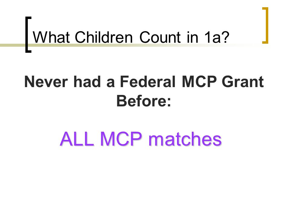 What Children Count in 1a