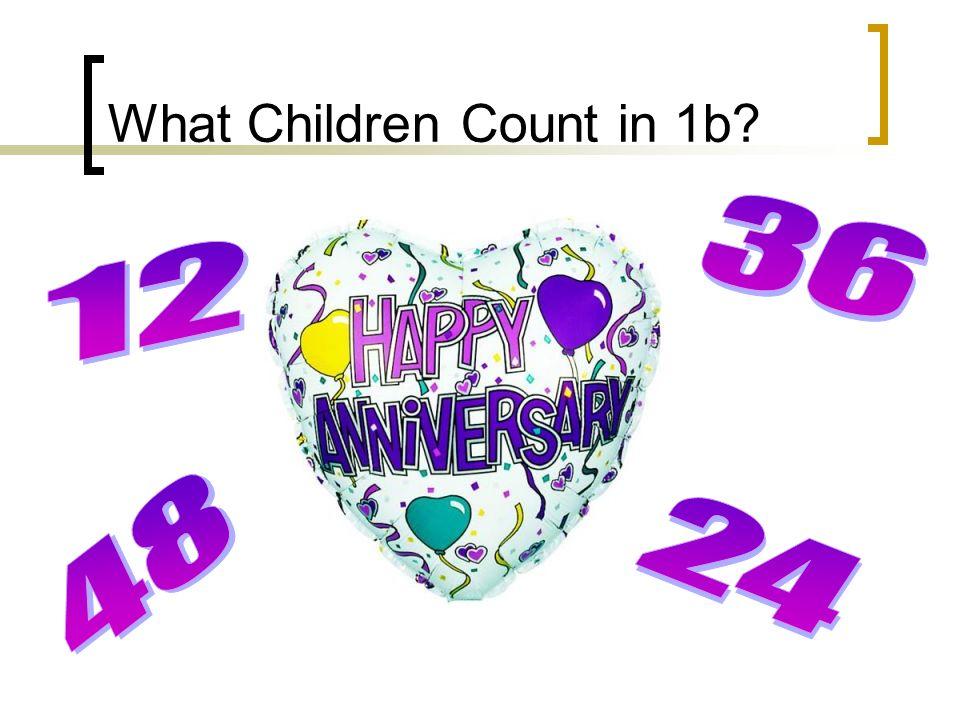 What Children Count in 1b