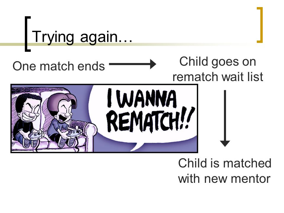 Child goes on rematch wait list