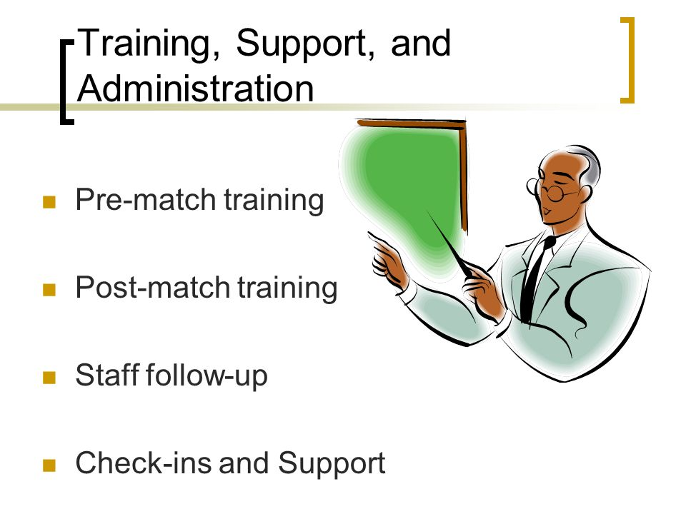 Training, Support, and Administration