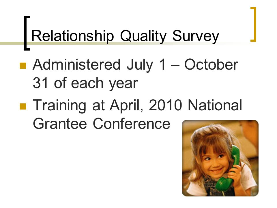 Relationship Quality Survey