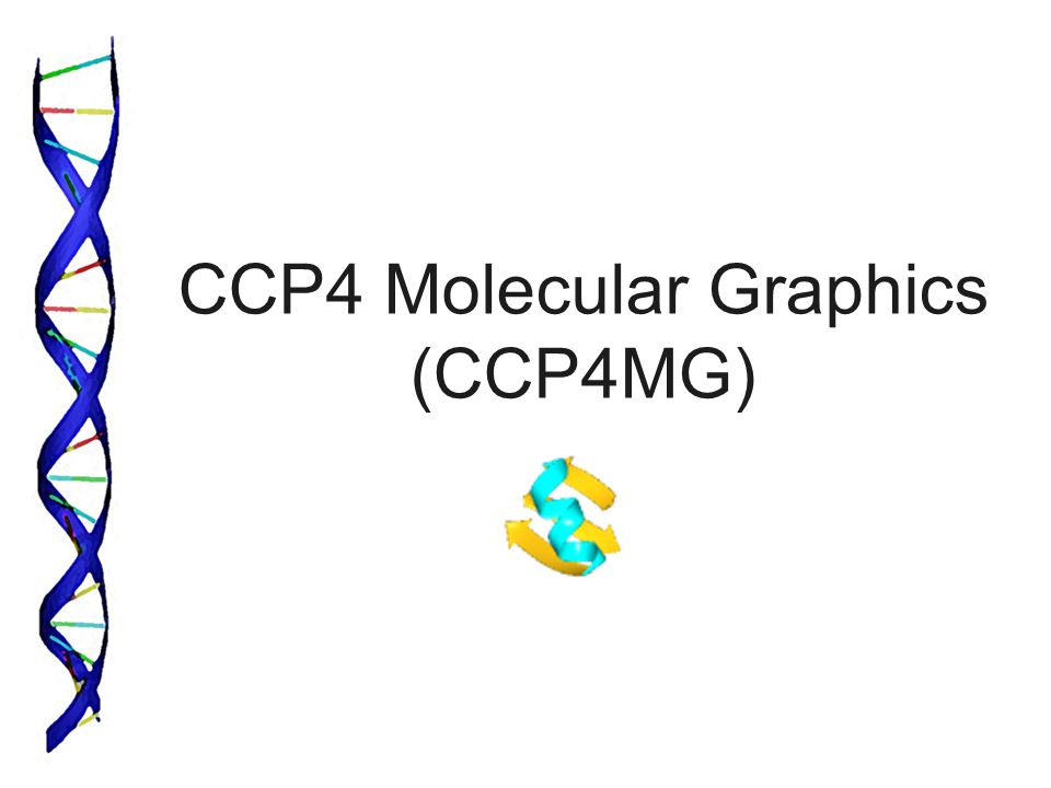 CCP4 Molecular Graphics (CCP4MG)