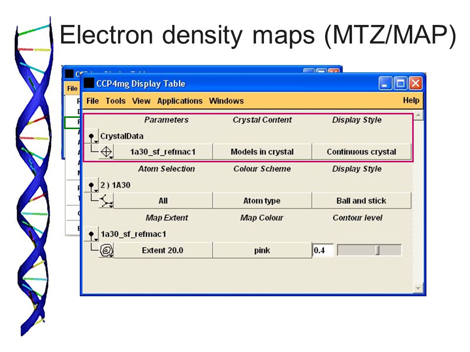 Electron density maps (MTZ/MAP)