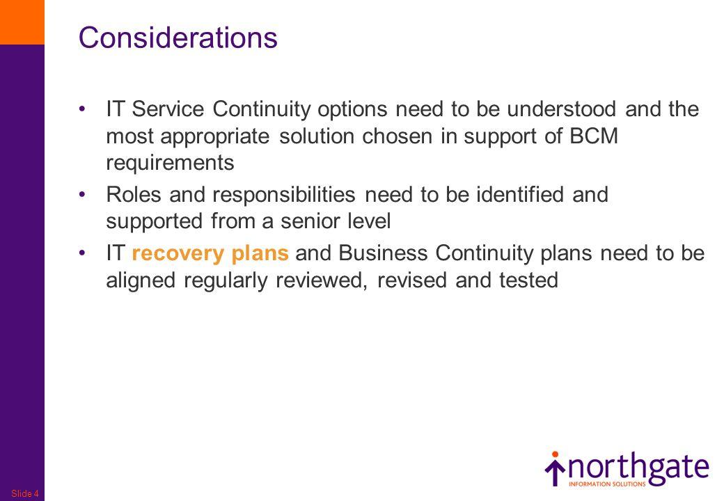 IT Service Continuity Management