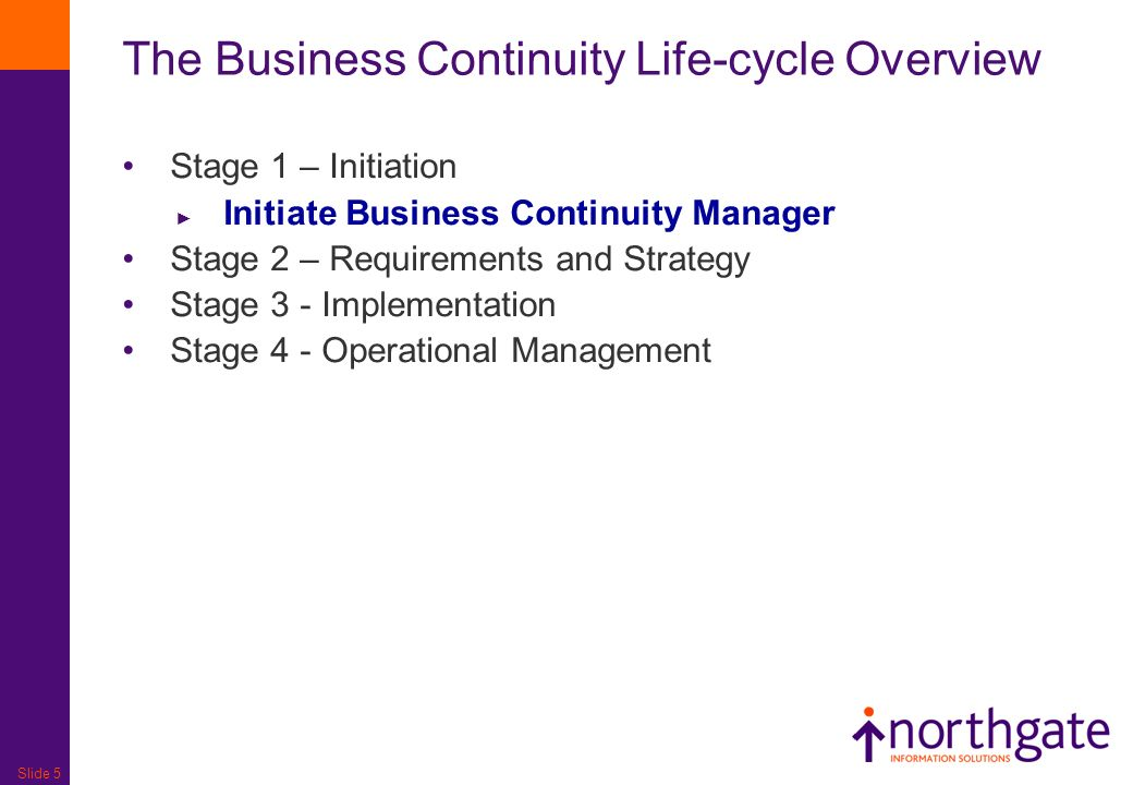 The Business Continuity Life-cycle Overview