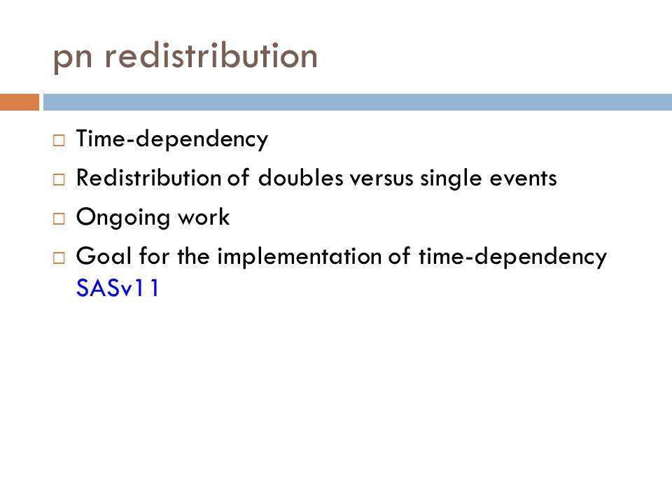 pn redistribution Time-dependency